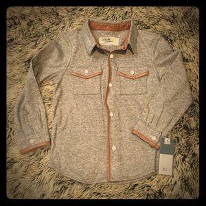 Genuine Kids Shirts & Tops - Boys 4T Gray Button Up Shirt NWT